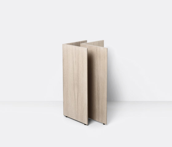Mingle Wooden Table Legs W48 - Natural Oak Veneer by ferm LIVING | Trestles