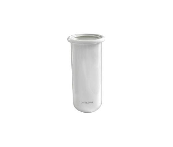 Edwardian Replacement Bone China Holder for Lavatory Brush and Holder by Czech & Speake | Toilet brush holders