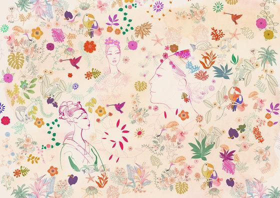 Watercolor, nature decor and fashion style di WallPepper | Carta parati / tappezzeria
