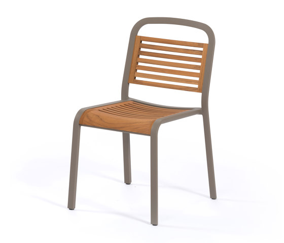 Marumi | Dining Chair in Teak by EGO Paris | Chairs