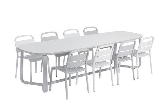 Marumi | Large Dining Table Aluminum di EGO Paris | Tavoli pranzo