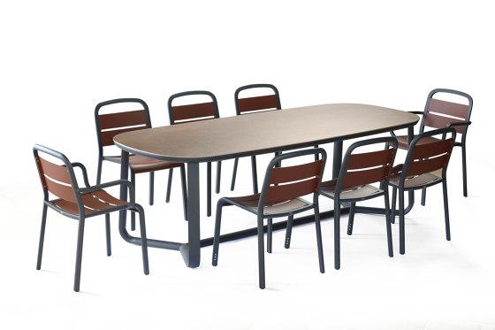 Marumi | Large Dining Table Ceramic di EGO Paris | Tavoli pranzo