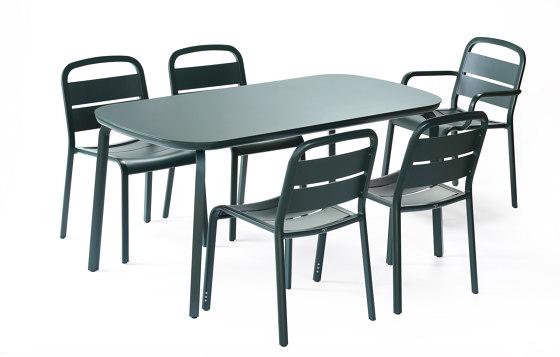 Marumi | Small Dining Table Aluminum di EGO Paris | Tavoli pranzo