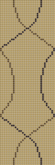 Loop Light Brown de Mosaico+   Mosaïques verre