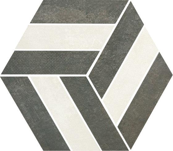 Stripe Negro by Grespania Ceramica | Ceramic mosaics
