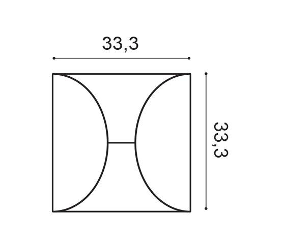 Decorative Elements - W107 CIRCLE de Orac Decor®   Paneles murales