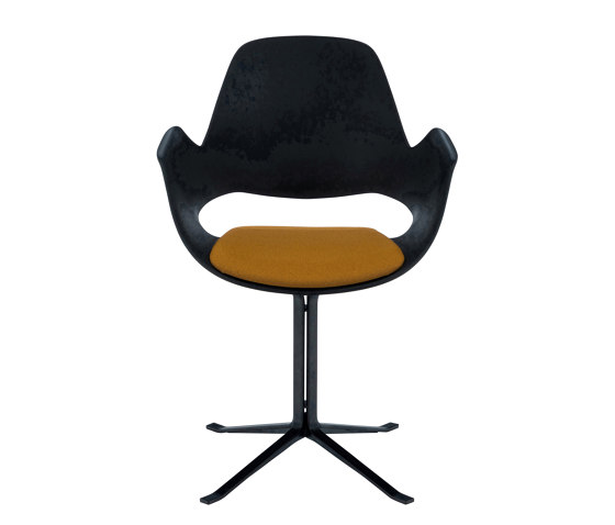 FALK   Dining armchair - Black Column Leg, Amber seat by HOUE   Chairs