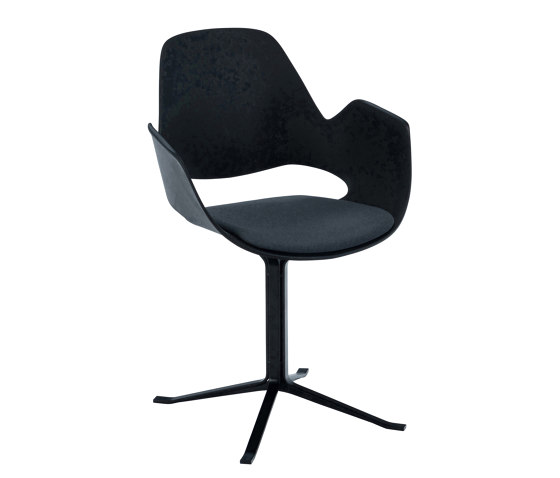 FALK | Dining armchair - Black Column Leg, Carbon Grey seat by HOUE | Chairs