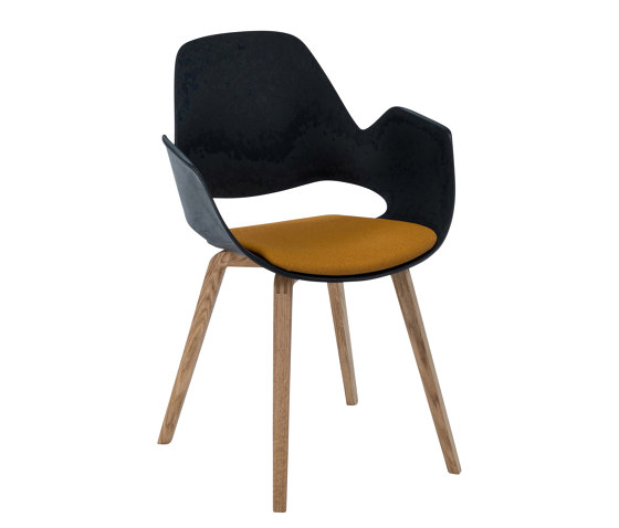 FALK | Dining armchair - Oiled oak legs, Amber seat by HOUE | Chairs