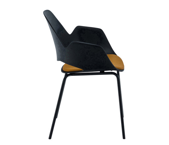FALK | Dining armchair - Metal legs, Amber seat de HOUE | Sillas