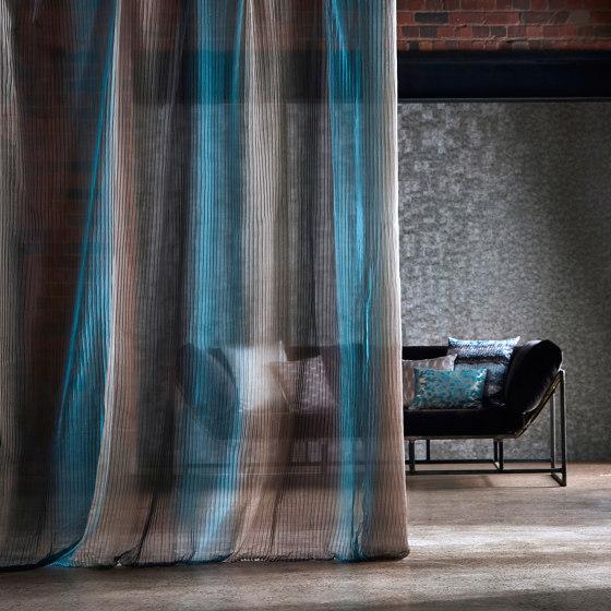 Stria Stone/Charcoal/Jade by Anthology | Drapery fabrics
