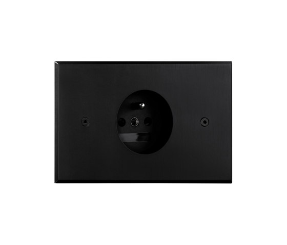 Cullinan - Black - Socket by Atelier Luxus | Schuko sockets