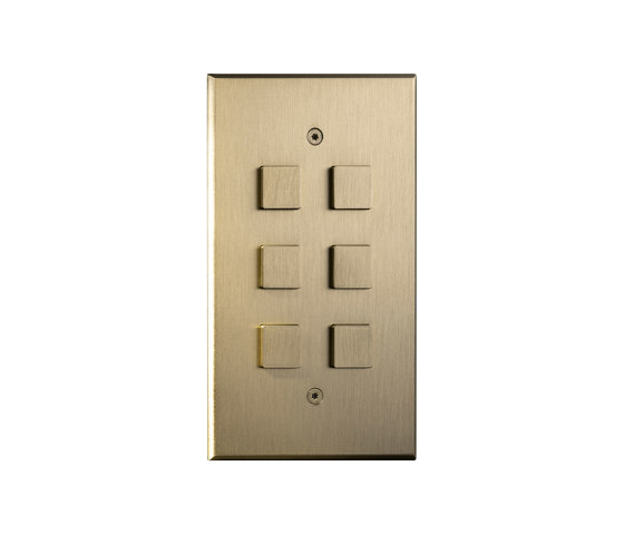 Cullinan - Brushed brass - Large square button by Atelier Luxus | Push-button switches