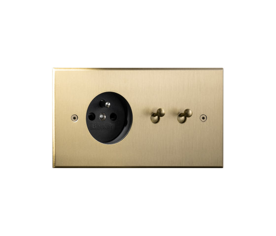 Cullinan - Brushed brass - Socket +Water drop lever by Atelier Luxus | Toggle switches
