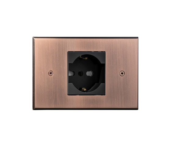 Cullinan - Brushed copper - Socket by Atelier Luxus | Schuko sockets