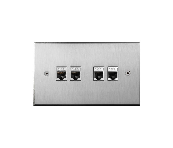 Cullinan - Brushed nickel - 4 RJ by Atelier Luxus | Antenna ports