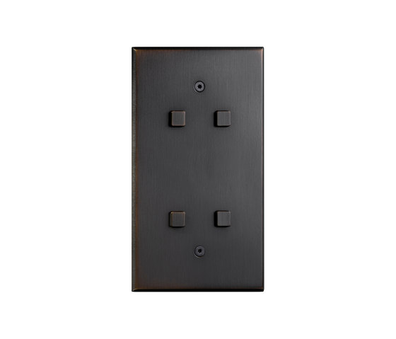 Cullinan - Medium bronze - Square button by Atelier Luxus   Push-button switches