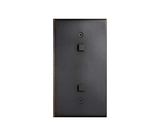 Cullinan - Medium bronze - Square button by Atelier Luxus | Push-button switches