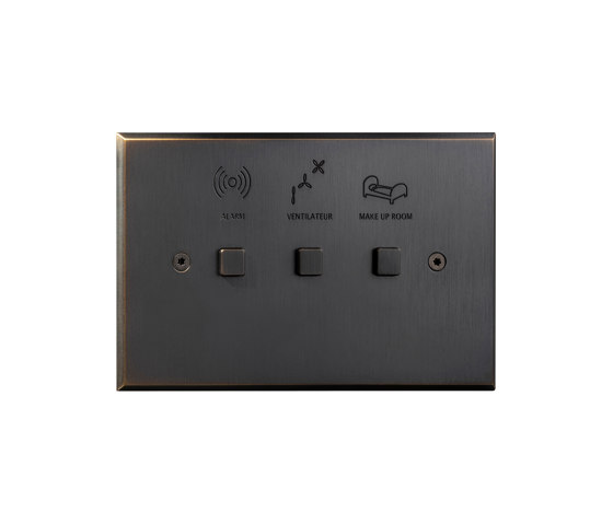Cullinan- Medium bronze - Square button by Atelier Luxus | Push-button switches