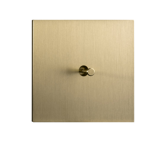 Facet - Brushed brass - Cone lever by Atelier Luxus | Toggle switches