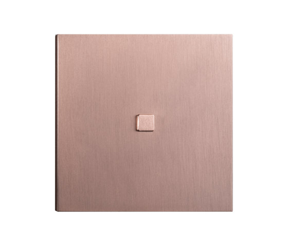 Facet - Brushed copper - Square push button by Atelier Luxus | Push-button switches