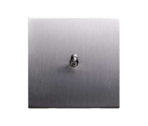 Facet - Brushed nickel - water drop lever by Atelier Luxus   Toggle switches