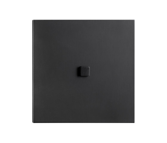 Facet - Mat bronze - square push button by Atelier Luxus   Push-button switches