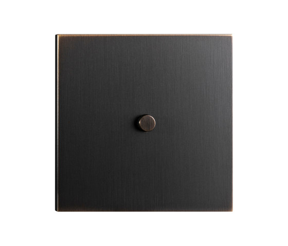 Facet - Medium bronze - Round push button by Atelier Luxus | Toggle switches