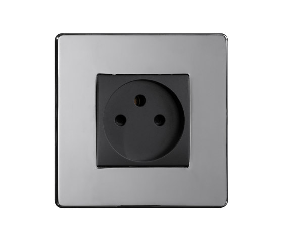 Grace - Mirror chrome - Israelian socket by Atelier Luxus | Schuko sockets