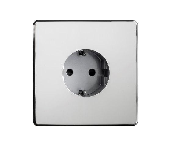 Grace - Mirror chrome - Socket by Atelier Luxus   Schuko sockets