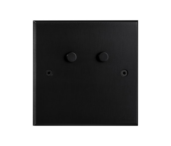 Hope - Black - Round push button by Atelier Luxus | Toggle switches