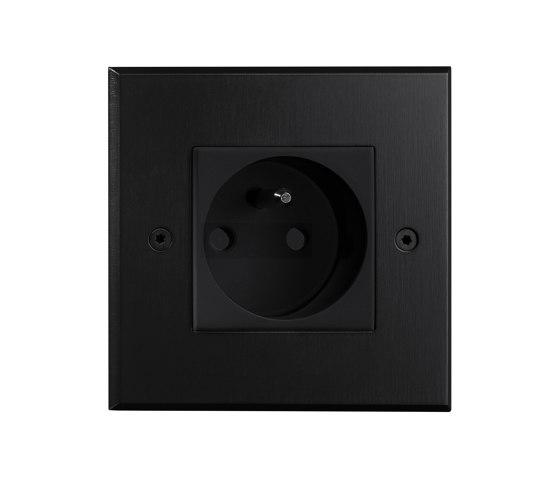 Hope - Black - Socket by Atelier Luxus | Schuko sockets