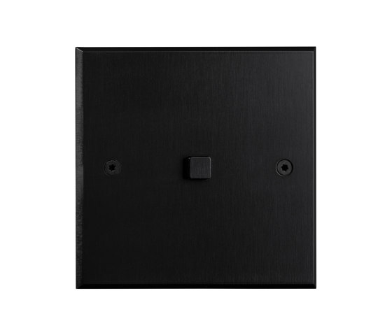 Hope - Black - Square button by Atelier Luxus | Push-button switches