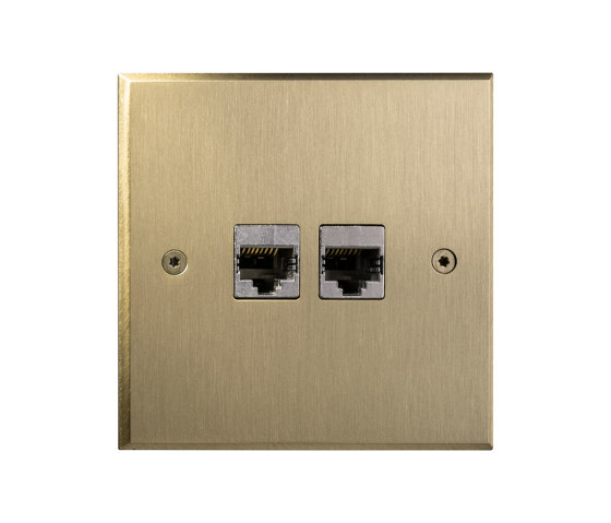 Hope - Brushed brass - 2 RJ by Atelier Luxus | Ethernet ports