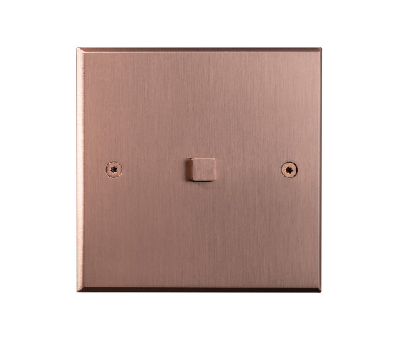 Hope - Brushed copper - Square push-button by Atelier Luxus | Push-button switches