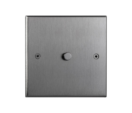 Hope - Brushed nickel -  Round push-button by Atelier Luxus   Push-button switches
