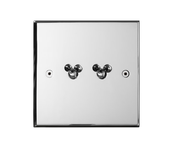 Hope - Chrome mirror - 2 water drop lever by Atelier Luxus | Toggle switches
