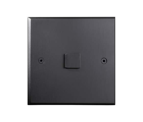 Hope - Mat bronze - Large square button by Atelier Luxus | Push-button switches