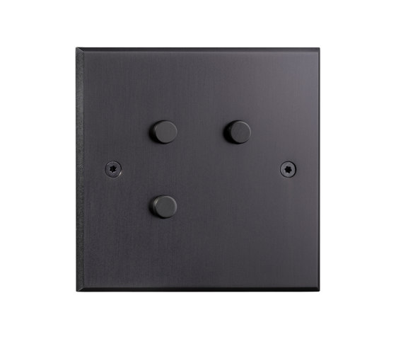 Hope - Mat bronze - Round push-button by Atelier Luxus | Push-button switches