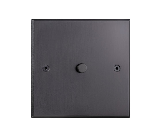 Hope - Mat bronze - Square push-button by Atelier Luxus | Push-button switches