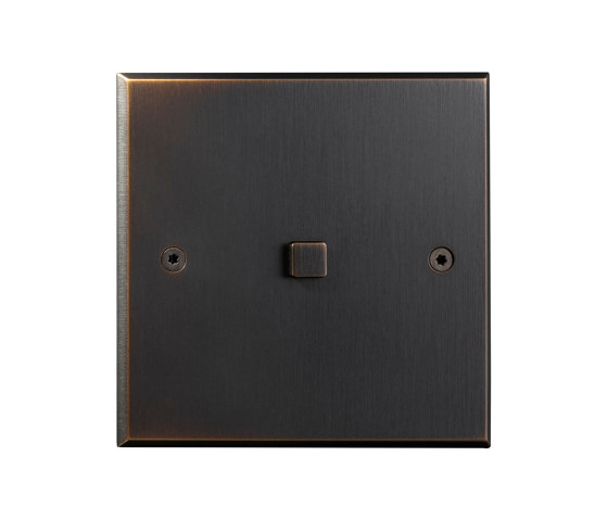 Hope - Medium bronze - Square button by Atelier Luxus | Push-button switches