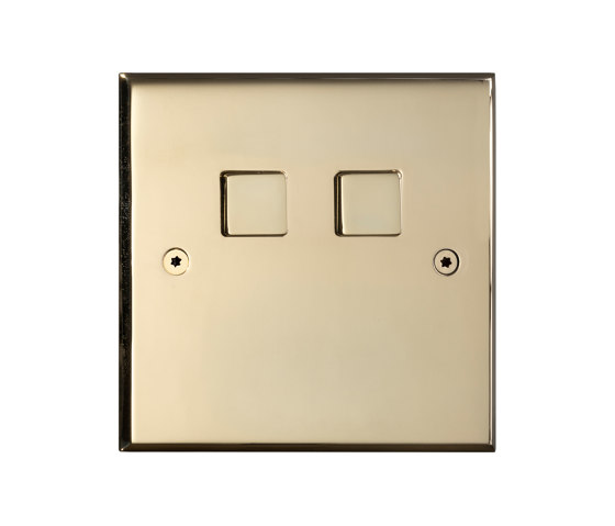 Hope - Mirror brass - 2 large square button by Atelier Luxus | Push-button switches