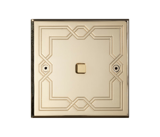 Hope - Mirror brass - Square button by Atelier Luxus | Push-button switches