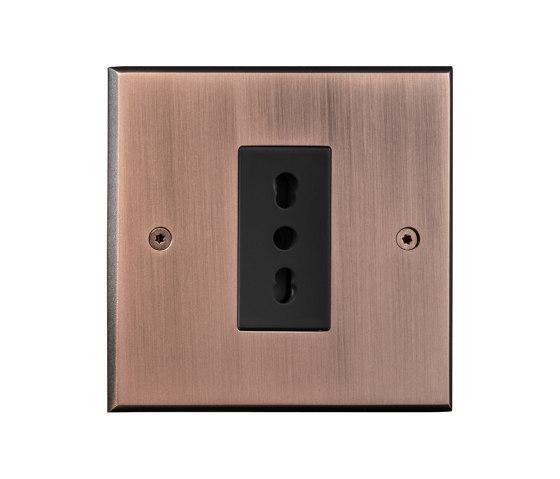 Hope - Old copper - Euroitalian socket by Atelier Luxus | EURO sockets