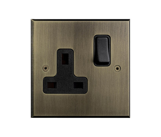 Hope - Old gold - UK switched socket by Atelier Luxus | Toggle switches