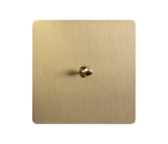 Noor - Brushed brass - Water drop lever by Atelier Luxus | Toggle switches