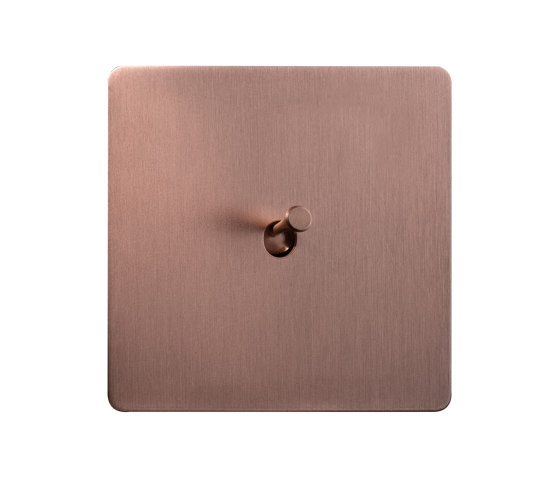 Noor - Brushed copper - Square push button by Atelier Luxus | Toggle switches
