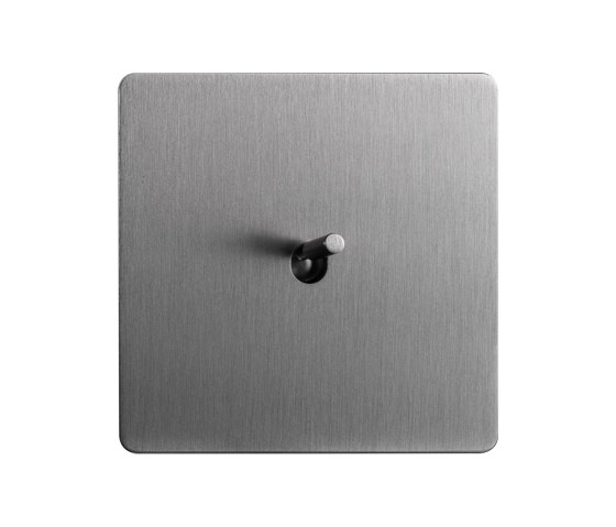 Noor - Brushed Nickel - Tube lever by Atelier Luxus   Toggle switches