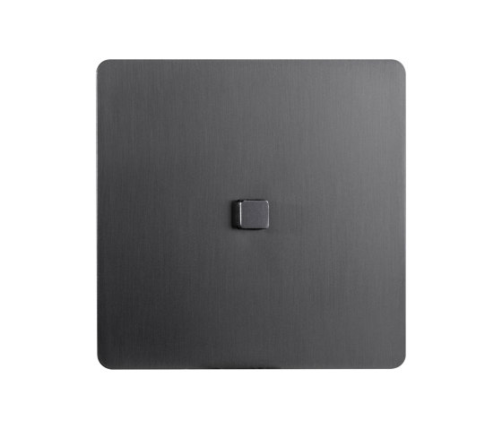 Noor - Mat bronze - square push button by Atelier Luxus | Push-button switches