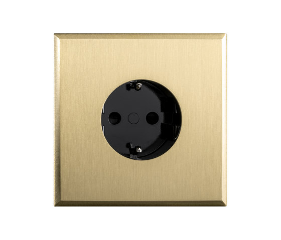 Regent - Brushed brass - Socket by Atelier Luxus | Schuko sockets